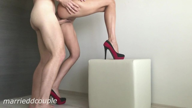 woman in nylons nude